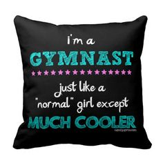 Golly Girls - I'm a Gymnast Throw Pillow