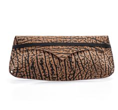 Black And Brown Evening Clutch / Women by EllenRubenBagsShoes
