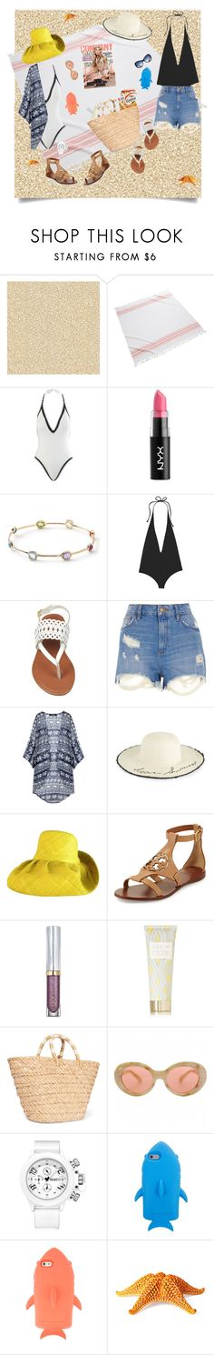 """Beach Besties"" by janetvera ❤ liked on Polyvore featuring Burke Decor, Kassatex, Seafolly, NYX, Ippolita, Mikoh, River Island, Marcus Adler, Tory Burch and Urban Decay"