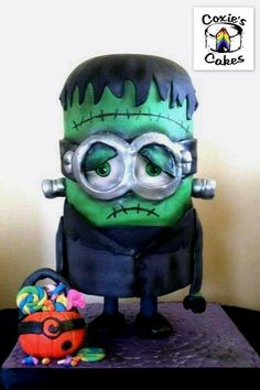 Frankenstein Minion Cake