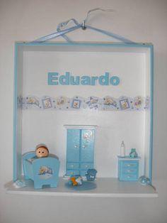 Enfeite para porta maternidade menino.  Posso fazer em diversas cores e temas. R$ 85,00