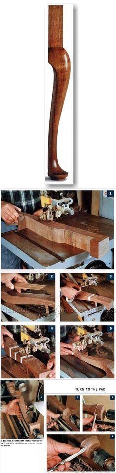 Shaping Cabriole Legs - Furniture Leg Construction   WoodArchivist.com