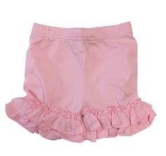 Ruffle shorts are a staple in all of our little girls' wardrobes. They are cute, they are comfy and they can go under nearly any top or dress. Our ruffled shorts are a great option, as we meet the cute and comfy standards, but also have a variety of colors, meaning that a match can be found for almost any top you can find.      https://adorableessentials.com/collections/shorts/products/ruffled-shorts-2-4-6?variant=46208102921
