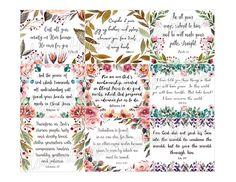 "Scripture Cards, Printable 3""x2.5"", Instant Download, 9 Inspirational Bible Verse Hang Tags, Art Jou Printable Bible Verses, Scripture Cards, Printable Cards, Printables, Prayer Cards, Printable Planner, Planner Stickers, Mothers Day Scripture, Verses For Cards"
