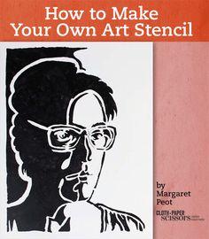 The Magic of Handmade Art Stencils (And a Demo) - Cloth Paper Scissors #mixedmedia #StencilArt