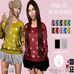 KP Designs Members Special Group Gift. Group members special gift from KP Designs: 100 members gift skirt and sweater two piece outfit. Includes