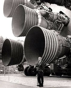 """Credited as the """"Father of Rocket Science,"""" Wernher von Braun developed the technology that would land the first men on the moon in 1969. Discover more about technology's evolution w/ @jan issues Wilke Russell-Snider Experience"""