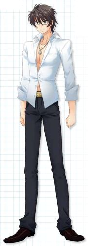"Hiyama Kiyoteru as he appears in the TOKUMA MEDIA PLUS book ""Ice Mountain"""