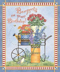 eCard - Debbie Mumm - Bouquets for your birthday