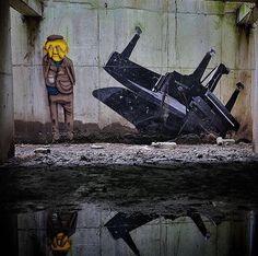 Artist: Os Gemeos & JR  Location: tunnels of the Palais de Tokyo Museum  Photo: repost - check out the amazing @osgemeos and @jr for more!  ℹ More info at StreetArtRat.com  #travel #streetart #street #streetphotography #tflers #sprayart #urban #urbanart #urbanwalls #wall #wallporn #graffitiigers #art #graffiti #instagraffiti #instagood #artwork #mural #graffitiporn #photooftheday #streetartistry #pasteup #instagraff #instagrafite #streetarteverywhere #france #repost