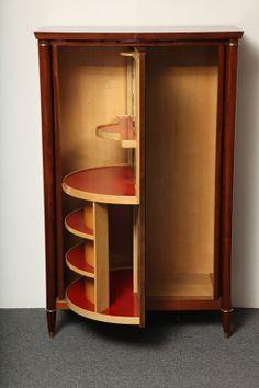Fine Swivel Door Bar Cabinet By Batistin Spade Image 8 Dry Bars