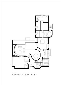 House N Hasselt,Ground Floor Plan