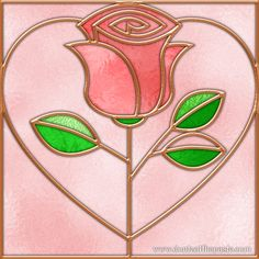 Stained Glass Rose art