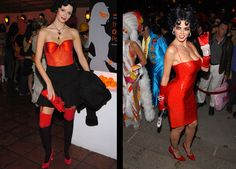 15 Celebrities Wearing the Same Halloween Costume: Mischa Barton vs. Heidi Klum as Betty Boop.