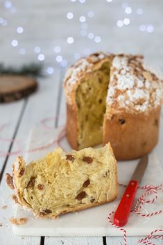 Quick and easy panettone - Dolci Pandoro Cookie Recipes, Dessert Recipes, Christmas Morning Breakfast, Gateaux Cake, Biscotti, Easter Recipes, Sweet Bread, Food Gifts, Christmas Baking