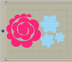 fabric flowers with silhouette - This site has TONS of cute stuff