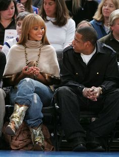 I love Jay-Z and Beyonce, because they genuinely seem to think the other one is just fun as hell.