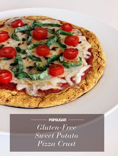 Skip the Gluten With This Sweet Potato Pizza Crust: mashed sweet potatoes & almond flour Sweet Potato Pizza Crust, Crust Pizza, Pizza Dough, Potatoe Pizza, Gluten Free Recipes, Healthy Recipes, Clean Eating, Healthy Eating, Yummy Food