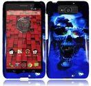 Motorola Droid Maxx Blue Skull Design Case