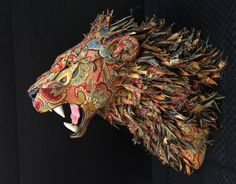 Custom Upholstered Faux Taxidermy Lion (DO NOT purchase this listing - message me for custom listing) - Life Size Mount - Made by Artist by LittleStagStudio on Etsy