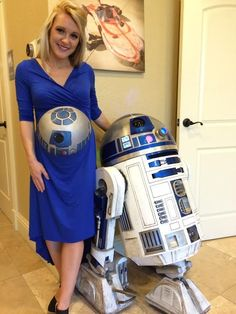 That's No Moon! This Pregnant Belly in Disguise Goes Beep Boop [Pics]