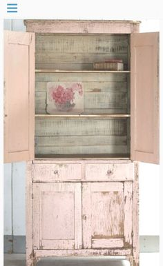 Would love this beautiful pink cupboard