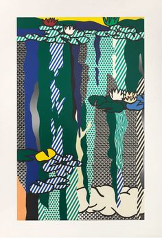 Roy Lichtenstein, 'Water Lilies with Cloud,' 1992, Edward Tyler Nahem Fine Art LLC Miami beach 2014