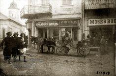 Suceava, strada principală cu biserica Sfântul Dumitru.
