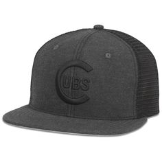 ee3857cdaec Chicago Cubs Coal Adjustable Snapback by American Needle