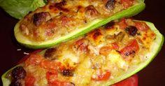 Пълнени+тиквички+с+пилешко+месо