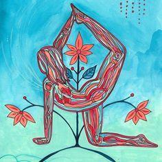 yoga goddess drawing meditation painting zen exercises eliza tobin lynn