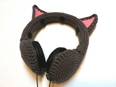 Ravelry: Cat Ears Headphones Cover pattern by Stace Clement