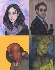 The Defenders by on DeviantArt Defenders Comics, Daredevil Punisher, Misty Knight, Luke Cage, Moon Knight, Book Tv, Iron Fist, Ghost Rider, Street Fighter