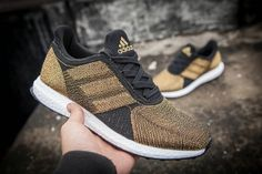 Adidas Futurecraft Tailored Fibre Boost Gold Black White UK Trainers 2017/Running Shoes 2017 Nike Shoes, Adidas Sneakers, Black Gold, Black And White, Popular Shoes, Shoes 2017, Cheap Shoes, Trainers, Running Shoes