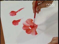 Nuria Sánchez nos enseña a pintar con la técnica multicarga, CLAVELES- YouTube ༺✿Teresa Restegui http://www.pinterest.com/teretegui/✿༻