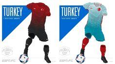 Camisa da Seleção da Turquia Eurocopa 2016-2017 Nike