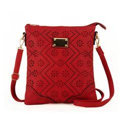 Hollow Out Flower Crossbody Bag - Red - JennGifts Borsette Alla Moda,  Borse, Braccialetti 9221e4e26c