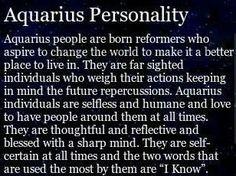 Aquarius Personality | Aquarius power :) | Pinterest | Aquarius ...