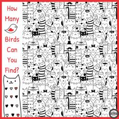 Up for a visual perceptual challenge?  This fun freebie is perfect for Valentine's Day or any time of year if you are a cat lover.  You can download the How Many Birds Can You Find Visual Perceptual Activity for FREE!