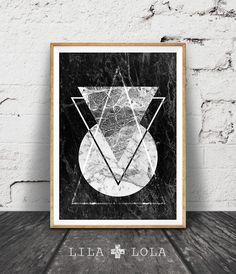 Geometric Print, Marble Print, Black and White Geometric Art, Black and White Decor, Marble, Triangle, Scandinavian, Printable Wall Art by LILAxLOLA on Etsy https://www.etsy.com/listing/248333921/geometric-print-marble-print-black-and