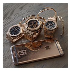 """Millionaire Gold Wristwear and Accessories! ---- © @anilarjandas"""