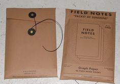field notes packaging