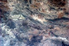 Rio Grande carving it's way near Chihuahua, Mexico. 22/Apr/13. Picture: Astronaut Thomas Marshburn