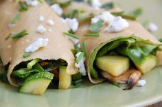 The Healthy Bites: Garden Vegetable Crepes