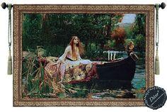 Beautiful Lady of Shalott Waterhouse Fine Tapestry Jacquard Woven Wall Hanging   $90 + free s/h