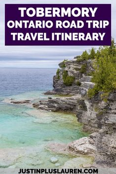 Tobermory is one of the most beautiful places in Ontario, and you can easily plan a weekend road trip to Tobermory from Toronto. Here's how to plan your entire weekend, including a visit to the Grotto, the lakeside village of Tobermory, and Flowerpot Island! Things to do in Ontario Canada | Road Trip to Tobermory | Tobermory Ontario | Flowerpot Island | Tobermory Grotto | Bruce Peninsula Hiking | Things to do in Tobermory Ontario | Tobermory Itinerary | Ontario Road Trip | The Grotto Ontario