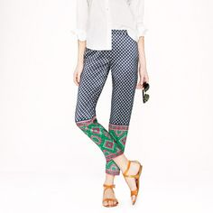 J.Crew Collection foulard dot pant - Yeah, I'd wear these all summer like a boss.