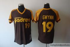 Mitchell and Ness Padres Tony Gwynn Coffee Embroidered Throwback MLB Jersey.  jersey johon · San Diego Padres Jerseys 084874bf3