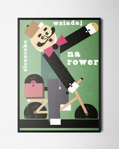 Plakat Wsiadaj na rower B2, Zasada, lateks Playing Cards, Posters, Design, Poster, Postres, Playing Card