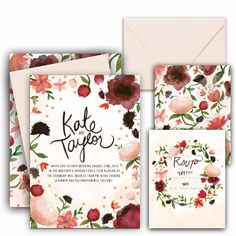 Huckleberry Paper / Wedding Suite - Maroon / wedding invitations / inspiration / florals / fall and winter weddings Wedding Pins, Wedding Paper, Wedding Cards, Wedding Suite, Wedding Bells, Wedding Invitation Inspiration, Wedding Invitations, Invitation Cards, Invites